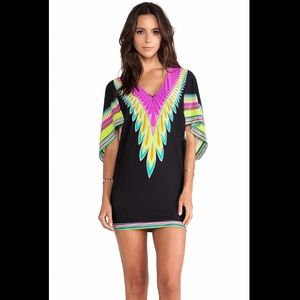 Trina Turk Plumas Cover Up Tunic in Black